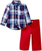Little Me Multi Plaid Woven Pant Set (Baby Boys)