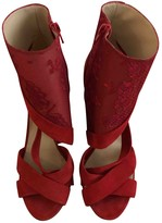 Nicholas Kirkwood Red Suede Sandals