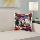 Two Cocker Spaniel Dogs on a Blanket Pillow Cover East Urban Home
