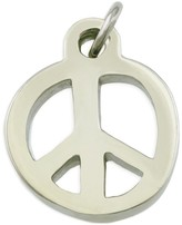 Peace Love World Medium Silver Peace Necklace Charm