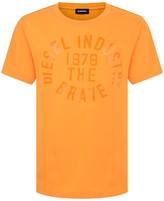 Diesel Boys Orange Cotton Branded Top