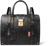 Thom Browne Convertible Burnished-Leather Backpack