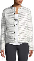 Kate Spade Quilted Snap-Front Athletic Jacket