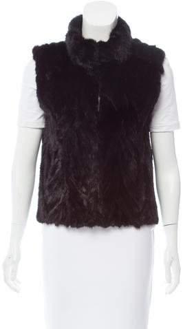 Pologeorgis Chevron Mink Fur Vest