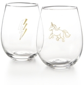 Celebrate Shop Celebrate Shop Unicorn 2-Pc. Stemless Wine Glass Set