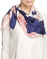 Kate Spade Going Places Silk Square Scarf