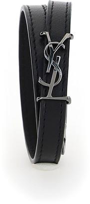 Saint Laurent Monogram Double Wrap Bracelet