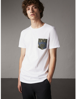Burberry Beasts Jacquard Pocket Detail Cotton T-shirt