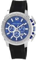 Vince Camuto Men's Quartz Watch with Blue Dial Analogue Display and Black Resin Strap VC/1019BLSV
