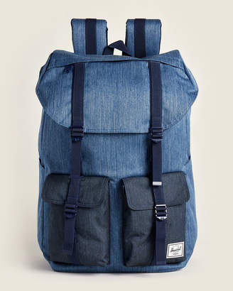 Herschel Faded Denim Buckingham Laptop Backpack
