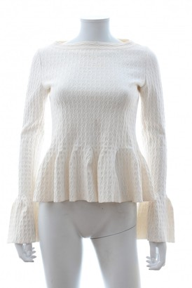Alaia White Wool Top for Women