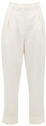 Tibi Press-stud Cuff Tailored Trousers - Womens - Ivory