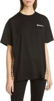Burberry Carrick Oversize Vintage Check Panel Tee