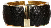 Ted Rossi Genuine Metal Hinged Bracelet in Black