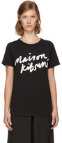 MAISON KITSUNÉ Black Handwriting Logo T-shirt