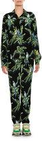 Stella McCartney Tropical-Print Silk Blouse