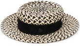 Maison Michel woven boater hat