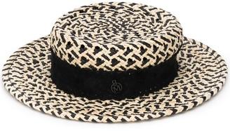 Maison Michel Woven Boater Hat