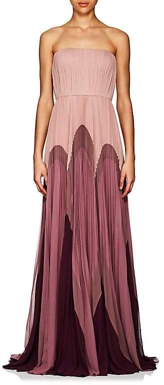 J. Mendel Women's Colorblocked Silk Strapless Gown