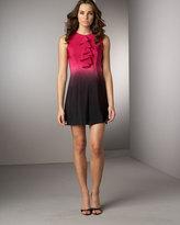 Tuxedo-Ruffle Ombre Dress