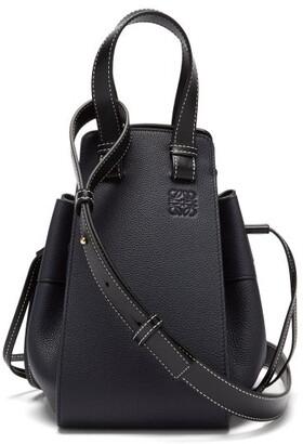 Loewe Hammock Small Leather Tote Bag - Dark Blue