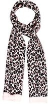Kate Spade Bow-Accented Leopard Scarf