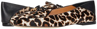 Tory Burch Tory Charm 5 mm Loafer (Cream Leopard/Cream Leopard/Perfect Black/Perfect Black) Women's Shoes