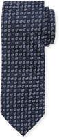 Neiman Marcus Boxed Pine-Print Silk Tie
