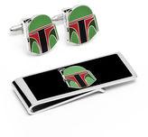 Star Wars STARWARS Boba Fett Helmet Cufflinks & Money Clip Gift Set