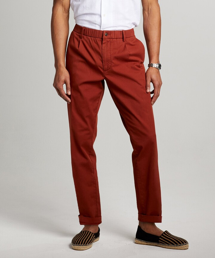 Thumbnail for your product : Todd Snyder The Pleated Pant in Rust