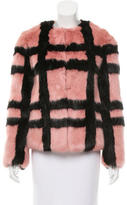 Shrimps Faux Fur Plaid Coat w/ Tags