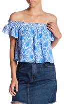 Show Me Your Mumu Tamale Patterned Off-the-Shoulder Top