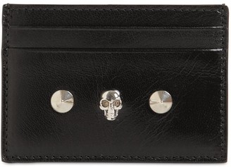 Alexander McQueen Bicolor Leather Card Holder