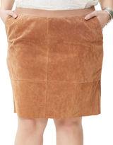 Junarose Seamed Suede Skirt