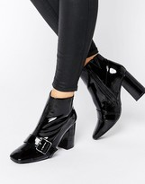 Office Archie Buckle Strap Heeled Ankle Boots