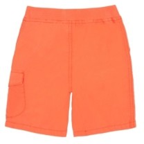 Flapdoodles Toddler Boys Poplin Cargo Short with Printed Drawstrings