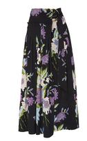 Diane von Furstenberg Floral Wrap Midi Skirt