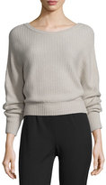 Maiyet Cashmere Ribbed Boat-Neck Sweater, Camel