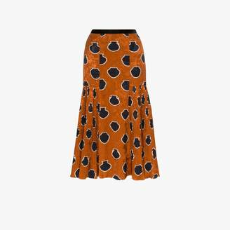 Johanna Ortiz Tribal Writings jacquard midi skirt