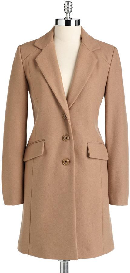 DKNY Notch Collar Walking Coat