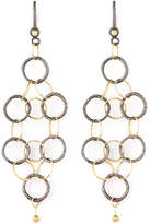 Dominique Cohen Noir Yellow Gold Mesh Earrings