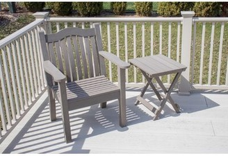 Adirondack Esquivel Ironwood Modern Chair with Table Rosecliff Heights