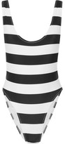 Norma Kamali Marissa Striped Swimsuit - Black