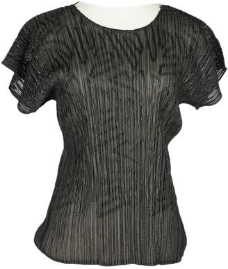 Issey Miyake Black Polyester Tops