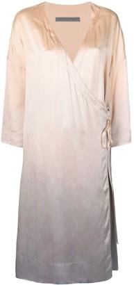 Raquel Allegra Tie-Dye Charmeuse Dress