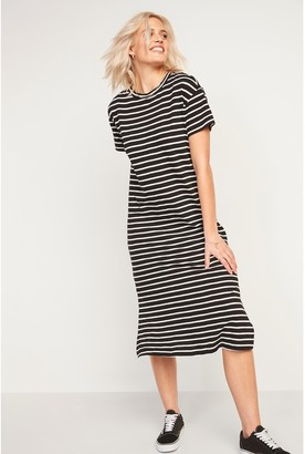 Old Navy Vintage Striped Midi Shift Dress for Women