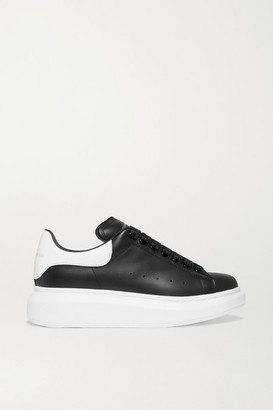Alexander McQueen Leather Exaggerated-sole Sneakers - Black