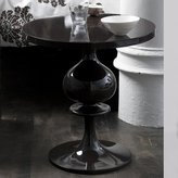 Turned Wood Pedestal Table - High Gloss Black