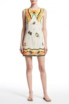 Calypso St. Barth Yantra Butterfly Embellished Linen Dress