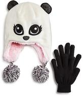 Capelli Girls' Pretty Panda Sparkle Hat & Glove Set - Sizes S/M-M/L